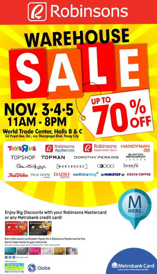 Robinsons Warehouse Sale